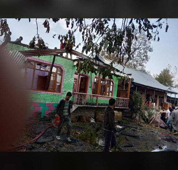 Two residential houses damaged in fire incident in Hard Madam Tangmarg
