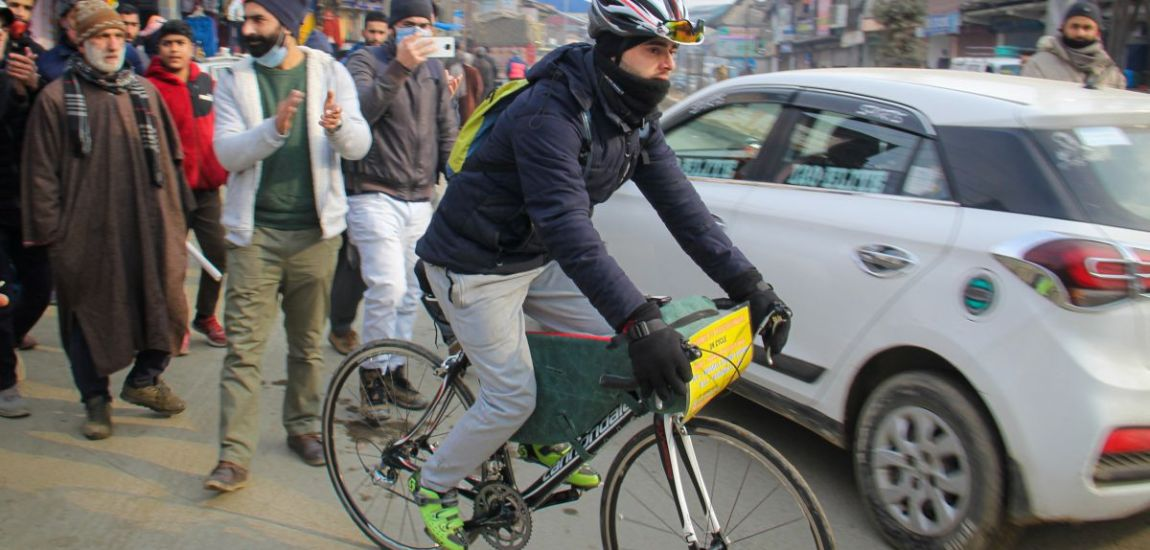Sopore cyclist is on a solo cycling trip to Kanyakumari