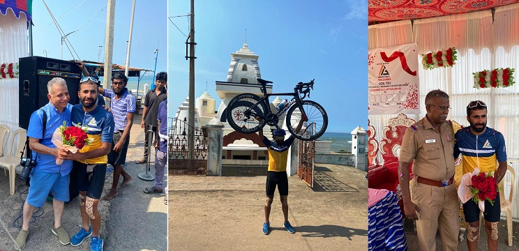 Kashmiri cyclist pedals 3,600 km in 8 days