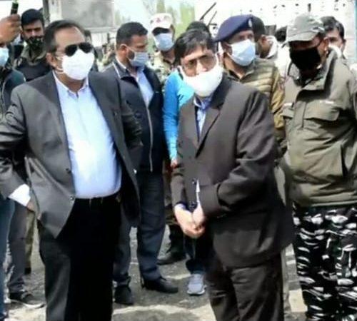 Advisor Baseer Khan inspects Yatra Transit Camps at Anantnag