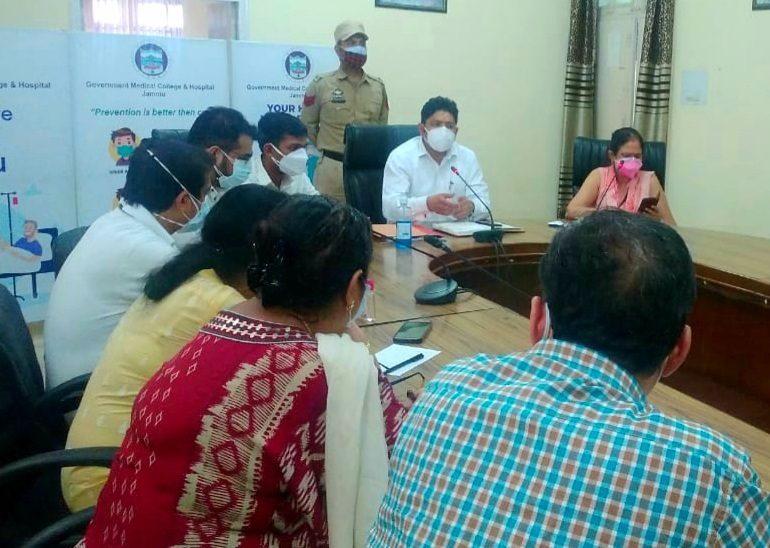 Div Com reviews Covid Management in GMC Jammu