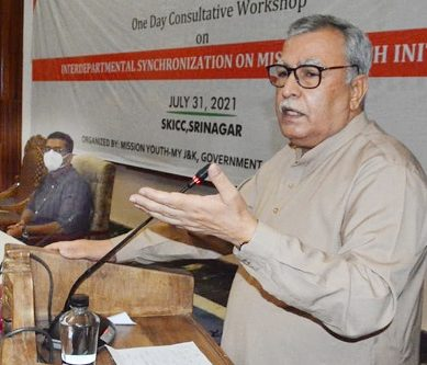Farooq Khan addresses Mission Youth's consultative workshop