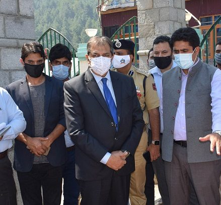 Baseer Khan inspects works of RDD, receiving station at Wahab Sahab
