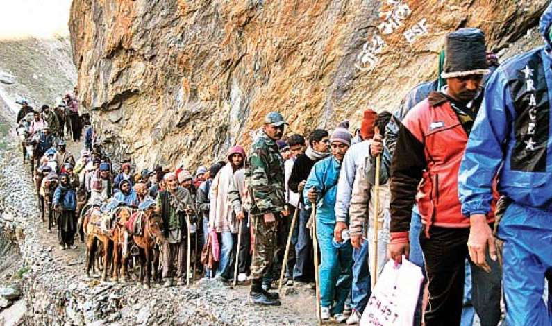 2.60 lakh piligrims visit Amarnath cave so far