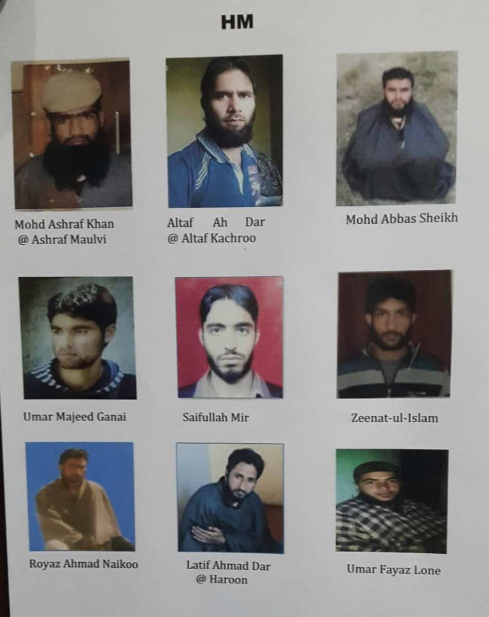 Govt forces release list of 21 most-wanted militants in Kashmir: Report | The Kashmir Press