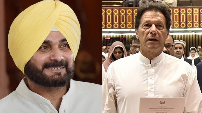 With Kashmiri Shawl for PM elect Imran Khan, Sidhu reaches Pakistan to a warm welcome