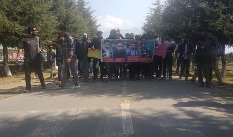 Mannan's killing: Protests rock Kashmir Univeristy