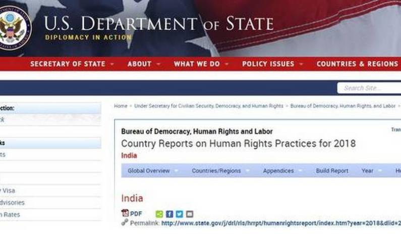 US state department report indicates Human Rights violations in Kashmir, curbs on Media