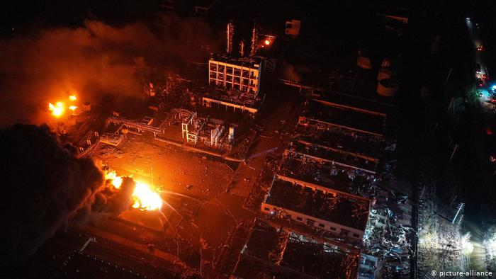 Massive explosion at Chinese chemical plant kills at least 44