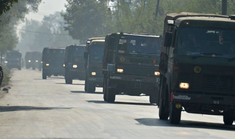 Convoy day on Kashmir highway, no civilian traffic movement today