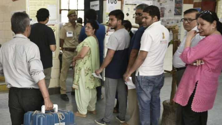 Polling began for the seventh and last phase of India Parliament elections