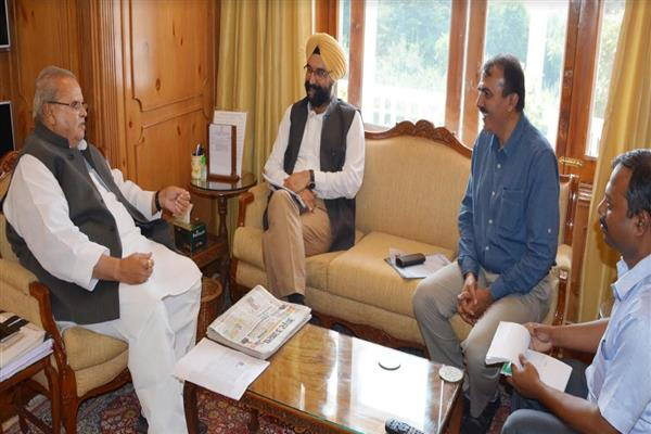 Managing director Amul India meets JK governor