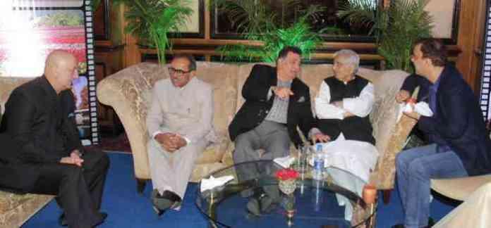 mufti sayeed, rishi kapoor, anupam kher, mumbai