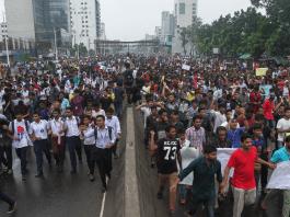 Student protests in Bangladesh. Photo: Mehedi Hasan/Dhaka Tribune