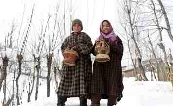 srinagar temperature, srinagar records season's coldest night,cold wave in kashmir