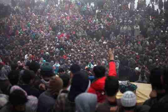 shopian encounter, kashmir, militant funeral