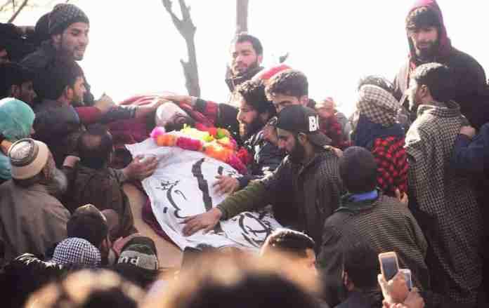 zeenat ul islam, shopian, kashmir news, kashmir latest news, kashmir, al badr, funeral of zeenat