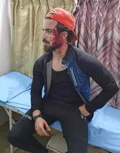 Kashmiri studetn, Kashmiri attacked, attack on kashmir,