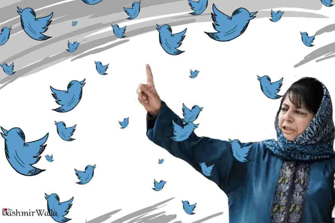 Mehbooba Mufti Twitter, Mehbooba Mufti kashmir, Kashmir, twitter kashmir, Mehbooba Mufti,