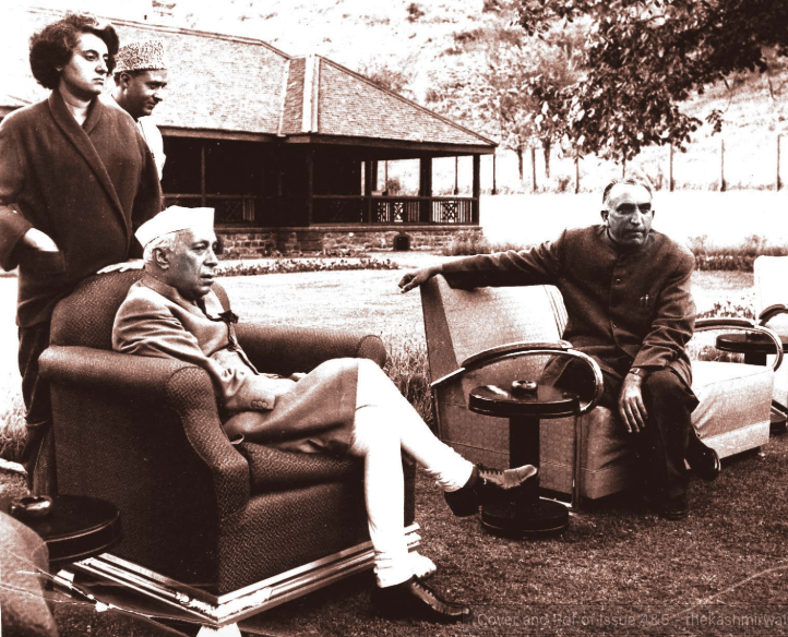 Nehru - Indira Gandhi - Ghulam Mohammad Bakshi