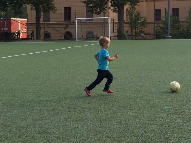 An English Mamma in Stockholm: small boy playing football