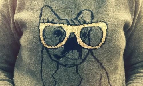 The Kat Edit sparkly dog jumper WIWW