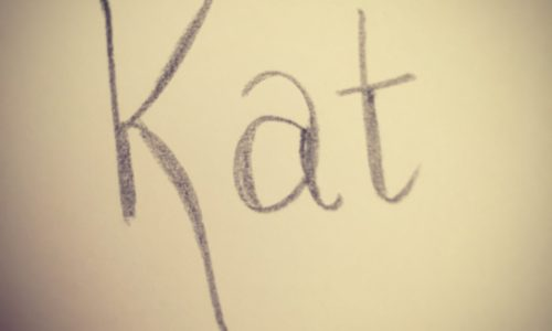The Kat Edit hand lettering