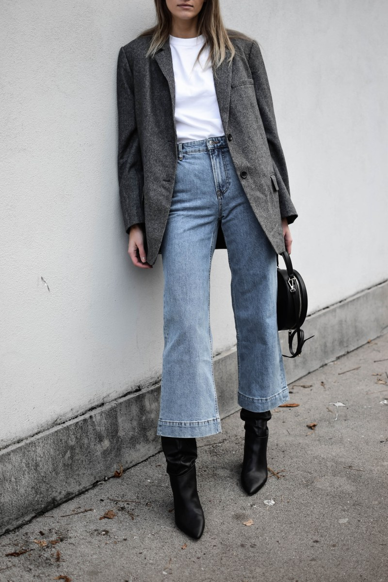 wide jeans outfit