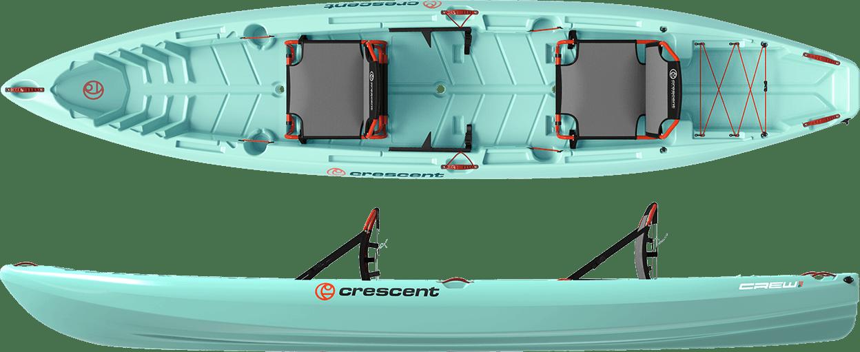 Crescent Crew Tandem - Seafoam