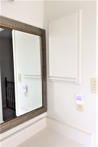 medicine cabinet, old mirror, painted mirror