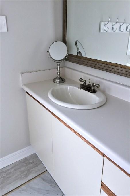 old vanity, painted vanity, old sink
