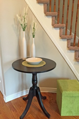 entry way table makeover , dyncan phyfe table, table refinishing