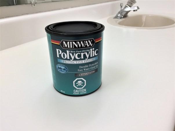 poyacrylic sealer, minwax sealer