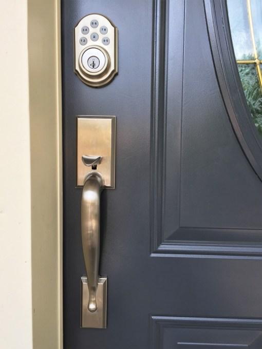 black paint front door