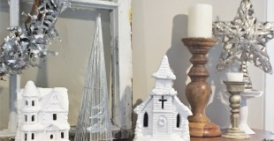White Chistmas Houses-Updating Traditional Decor