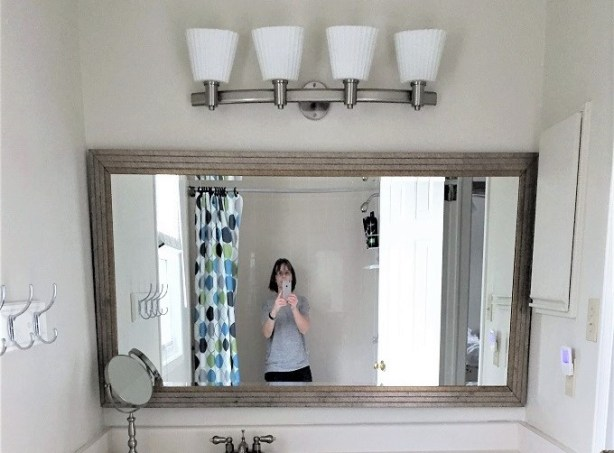 boy's bathroom mirror