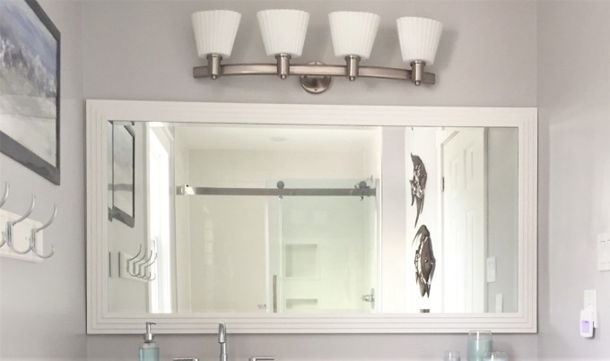 painted bathroom mirror