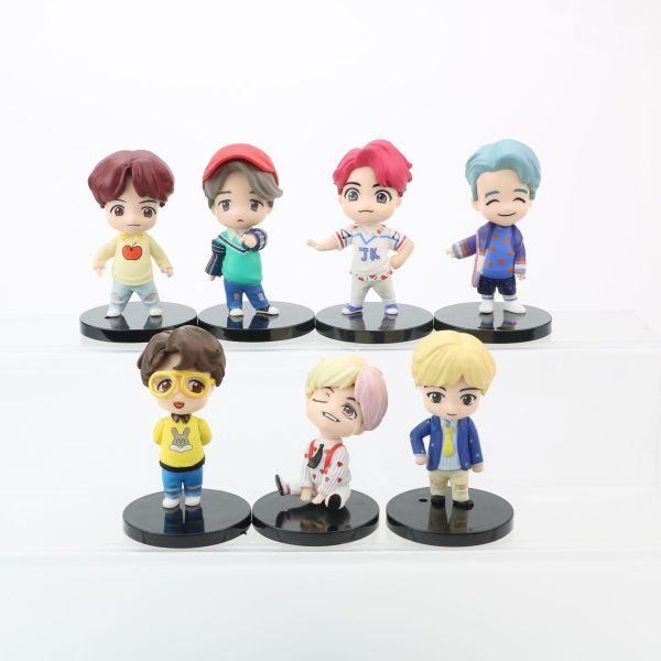 Chaveiros 7 PCS Cute Handmade Doll Set - The Kdom