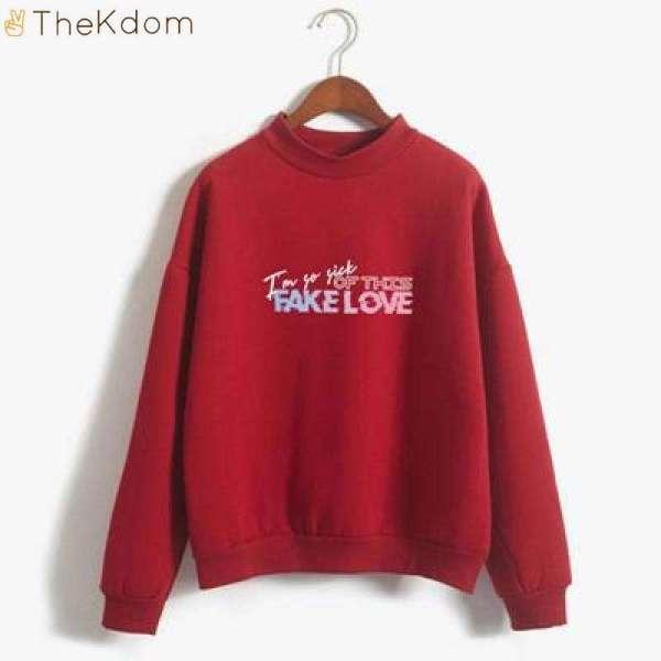 """Hoodies & Sweatshirts BTS """"Fake Love"""" Sweatshirt (BUY 1 GET 1 FREE) - The Kdom"""
