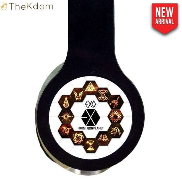 Headphone/Headset EXO Black Adjustable Stereo Headset - The Kdom