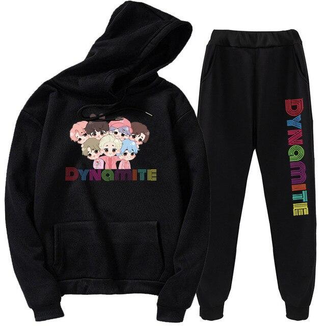 Hoodies & Sweatshirts Bangtan & Dynamite New Trouser and Hoodie - The Kdom