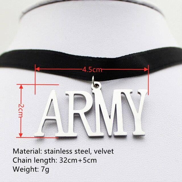 Pendant Necklaces ARMY & Members New Choker Necklace - The Kdom