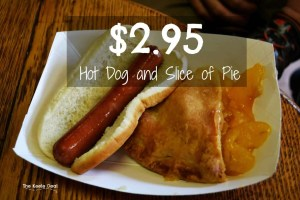 village farmer and bakery -2.95 Hot dog and Slice of Pie