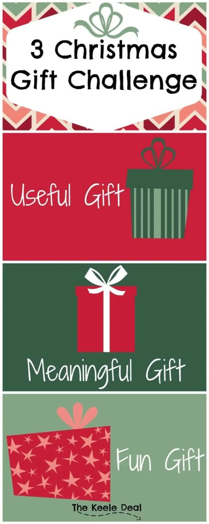 3 Christmas Gift Challenge -When we read the Christmas Story, we read about three gifts that where brought to Jesus. This Christmas try to keep it simple with only 3 Christmas Gifts.