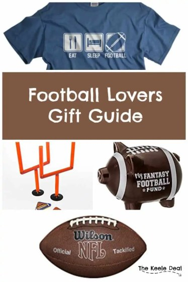 Football Lovers Gift Guide Inspired by my husbands love of all things football. These football items make great father's day, birthday and Christmas gifts. Great gift ideas for the Football lover in your life. thekeeledeal.com