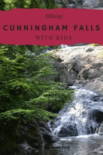 Cunningham Falls Tall with kids. Cunningham Falls State Park is located in Frederick County Maryland. It's a great day trip from Washington DC and Baltimore. Fun family hiking trails and a lake. thekeeledeal.com #maryland #travel #daytrips