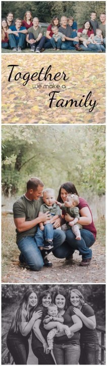 Together we make a family. Fall Family Photos. thekeeledeal.com #familyphotos #fallphotos
