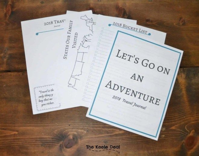 Here is a free printable Travel Journal. This journal is a fun way for your family to document your travels this year. From the big vacations to little day trips, what a fun way to look back at the places you have visited. thekeeledeal.com #journal #TravelJournal #freeprintable #travel