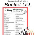 Disney Animated Movies Bucket List Free Printable The Keele Deal