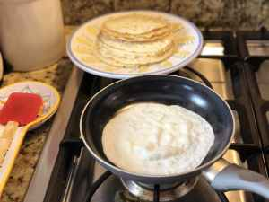 Cooking low carb tortillas